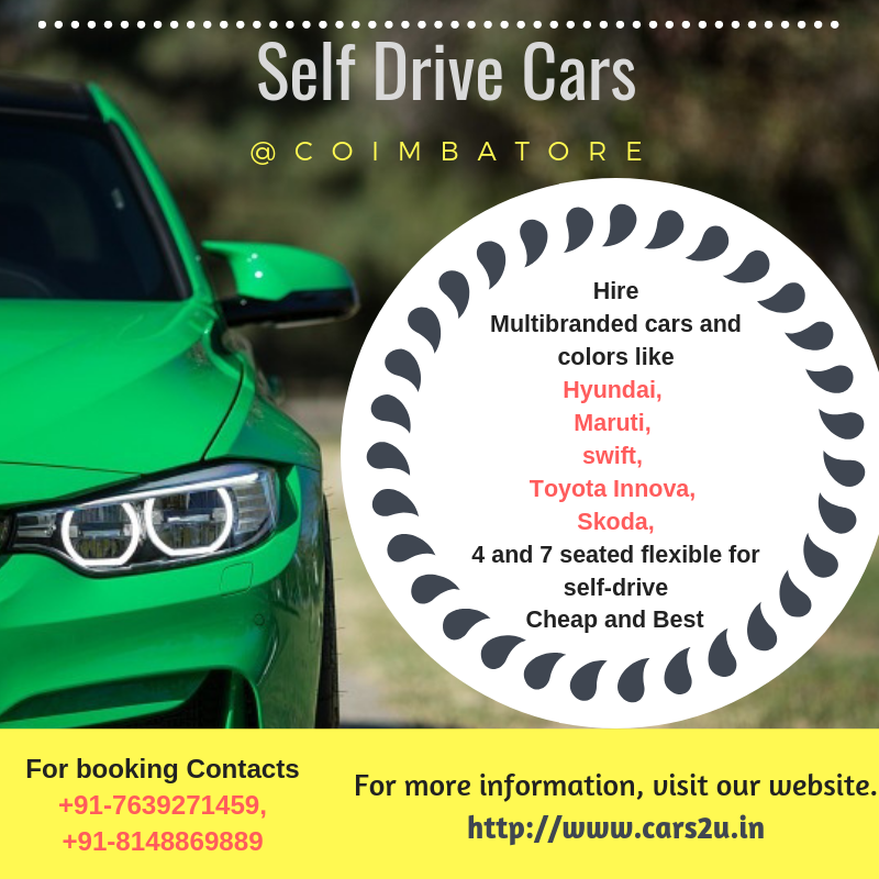 Self Drive Cars In Coimbatore - Cars2u