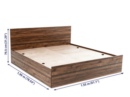 Buy Wakefit Taurus Engineered Wood Bed Online at Best offered price by wakefit