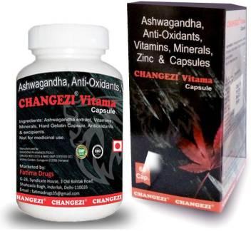 Changezi Vitama – Ashwagandha, Anti-Oxidants, Vitamins, Minerals, Zinc & Capsules