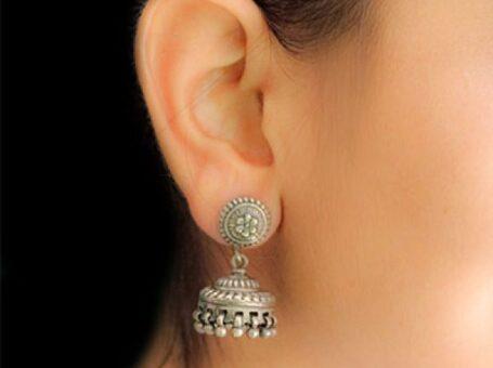Jhumka Design in Silver